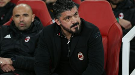 A.C. Milan manager Gennaro Gattuso before the Europa League match between Arsenal and A.C. Milan at