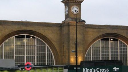 Armed police found a man with slash wounds at Kings Cross Station