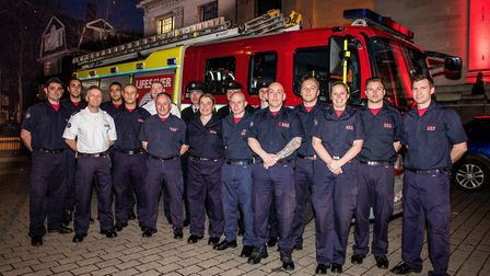 Firefighters from Islington and Holloway stations, who were awarded the freedom of the borough last