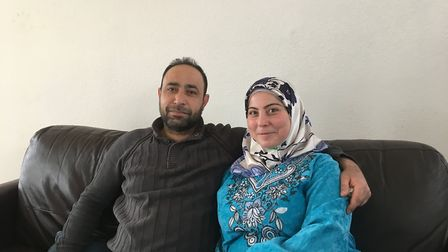 Mohamed and Leila in their home. Picture: Sam Gelder