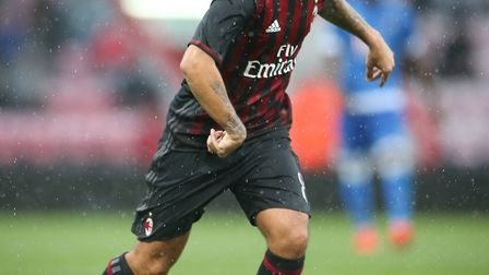The highly-rated Suso of AC Milan during their friendly match at the Vitality Stadium, Bournemouth.