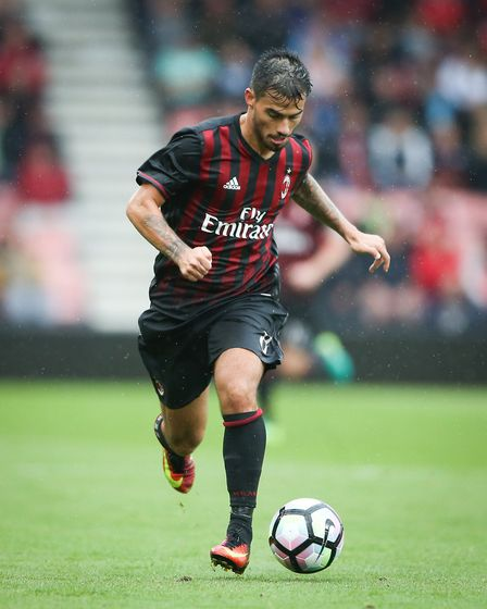 Suso has been in great form for Milan this season. Pictured played for the Rossoneri during the frie