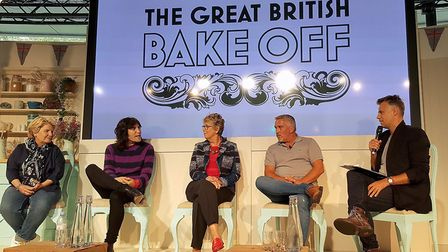 Judges and presenters for The Great British Bake Off (left to right) Sandi Toksvig, Noel Fielding, P