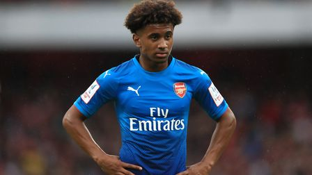 Arsenal youth academy graduate Reiss Nelson is set to sign an extended contract deal. Image John Wal