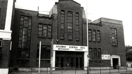 Archway Methodist Hall in 1985. Picture: Islington Local History Centre
