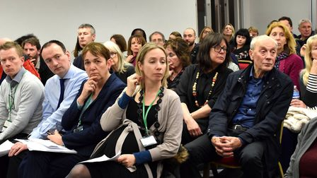 Concerned neighbours at last night's public meeting about violent crime in the St George's and Junct