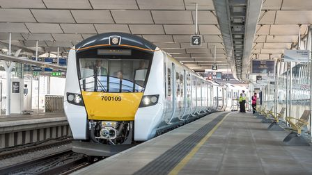 The new Class 700 train at Blackfriars. Picture: Govia Thameslink Railway/ Peter Alvey