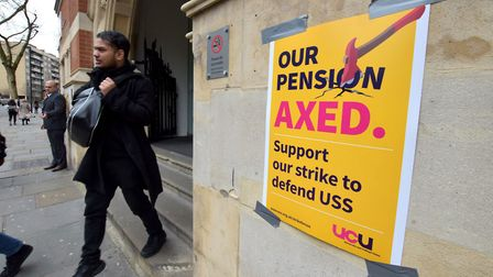 Staff at City, University of London are on strike this week in a dispute over pensions. Photo by Pol