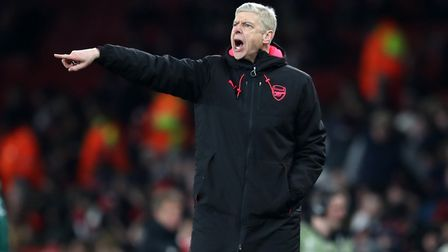 Arsenal manager Arsene Wenger issues instructions (pic Adam Davy/PA)