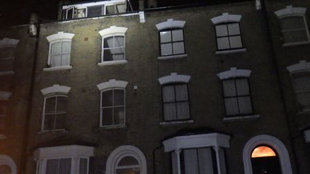 The fire damaged a third floor flat and loft conversion in Ashley Road. Picture: London Fire Brigade