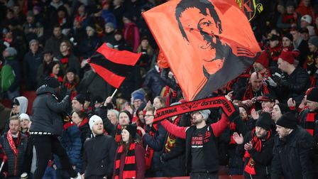 Ostersund fans before the Europa League match between Arsenal vs Ostersunds FK at the Emirates Stadi