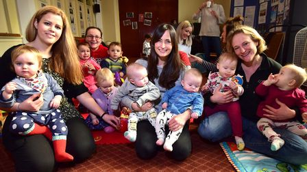 Hannah Brooke, pictured right, with Islington Twins and Multiples Club co-founders Heather Shelton,