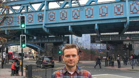 Clayton Crabtree is campaigning for lights on a Cricklewood bridge