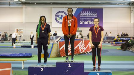 Wembley triple jumper Lia Stephenson enjoyed great success at the BUCS Nationals in Sheffield (pic: