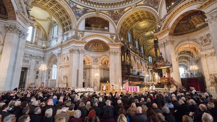 Hundreds filled St Paul's Cathedral to pay tribute to Mary Turner CBE (Picture: Andrew Wiard/GMB )