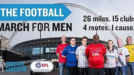 The Football March for Men takes place on July 22 (pic: Prostate Cancer UK)