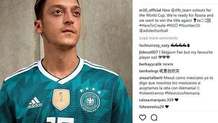 Mesut Ozil is looking forward to playing for Germany. Instagram @m10_official