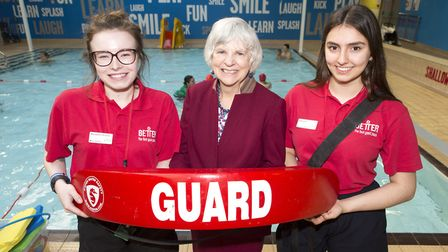 Graduates of the lifeguarding course with This Girl Can Islington with Cllr Janet Burgess, centre. P