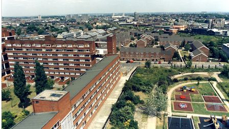 The Market Estate pictured in 1988. Picture: Islington Local History Centre. Picture: Islington Loca