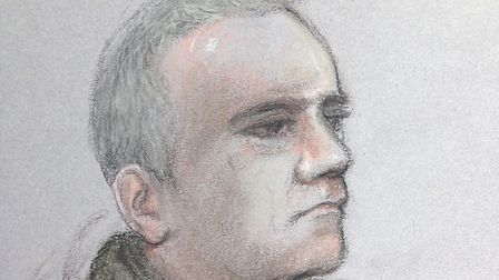 A court artist sketch of Michael Seed at an earlier hearing in the case. Picture: Elizabeth Cook/PA