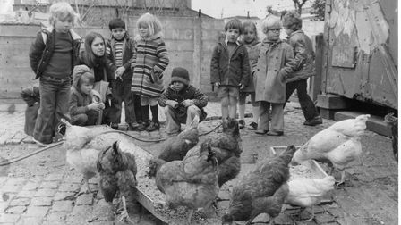 An archive photo of children at Freightliners City Farm in Holloway. Picture: Bob Bray/Freightliners