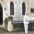 Aleksandra Podhorodecka MBE at the Parish of Our Lady of Czestochowa and St Casimir in Devonia Road.