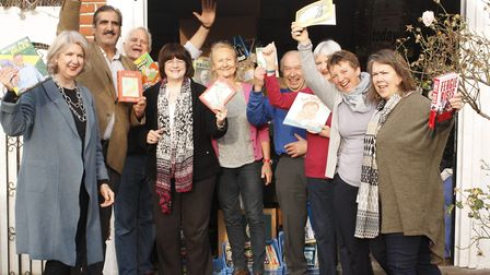 Friends of Cricklewood Library pictured last year after smashing their fundraising target to bring t