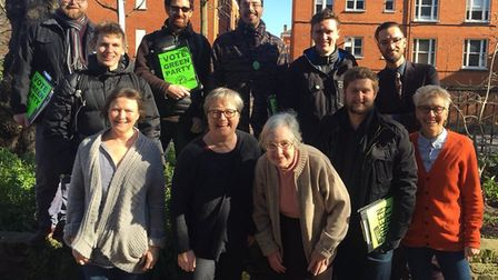 Islington Green Party, including Caroline Russell (front, second left) has launched its manifesto fo