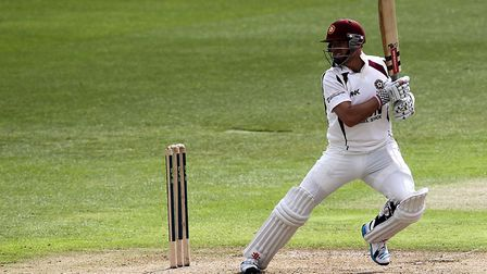Stephen Peters in action for Northamptonshire (pic: Simon Cooper/PA)