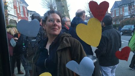 Lucy Cox of Brent Stand Up To Racism, who organised the vigil in Dollis Hill. Picture: Nathalie Raff