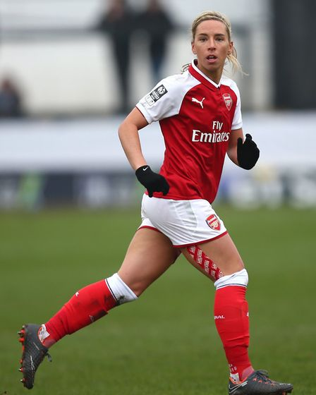 Arsenal Women's Jordan Nobbs during the SSE Women's FA Cup Semi Final match at the Marine Travel Are