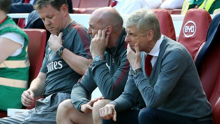 Arsenal manager Arsene Wenger looks on from the dug out at the Emirates Stadium (pic Mark Kerton/PA)