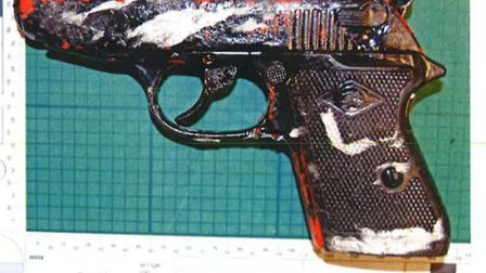 The BBM 8mm blank firing pistol that was found in the car. Picture: Met Police