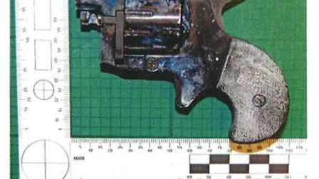 The Erkol Arda gun that was found in the car. Picture: Met Police