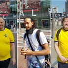 Claude from Arsenal Fan TV, David Marks, and Josh Chester. Pictures: Kamal Sultan