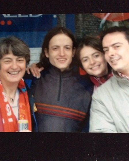 Mum Tess, brother James, Sophie and Ben Ansell