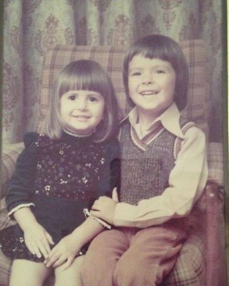 Sophie and her late brother Ben as yong children