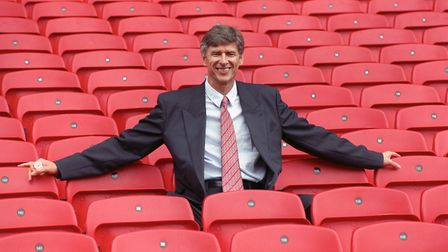 Arsenal manager Arsene Wenger at Highbury on the day he joined the club in September 1996. PA