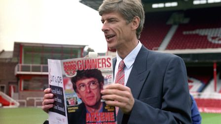 The day Arsene Wenger became Arsenal boss. Pictured at Highbury. PA