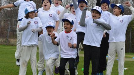 Several young cricketers look to be having fun during Saturday's taster colts session at Crouch End