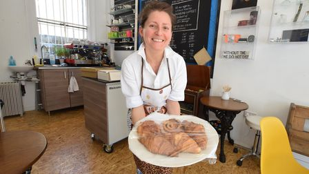 Time For... Cafe has opened in Pentonville Road. Pictured is staff member Lenka Balogova. Picture: P