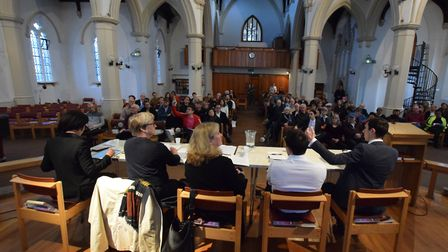 Islington healthy streets hustings at Christ Church Highbury. Picture: POLLY HANCOCK