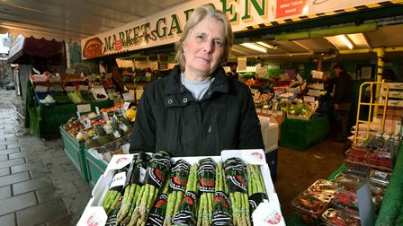 Jacqui Emery, co-owner of Market Garden greengrocers in Essex Road. Picture: Polly Hancock