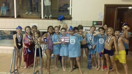 Thornhill Primary pupils celebrate their success at the Islington Schools' gala
