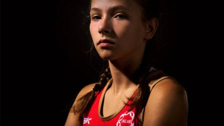 Cumberland's Kira Rothwell has been called into the England under-19 netball squad (pic England Netb