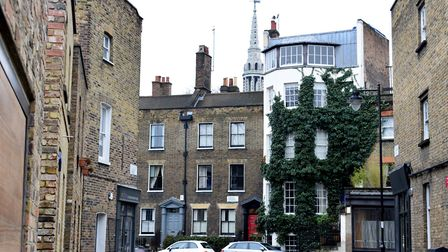 A traditional Islington street scene: Cross Street, in between Essex Road and Upper Street. Picture: