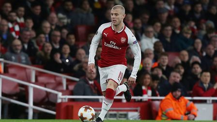 Jack Wilshere of Arsenal in the UEFA Europa League game between Arsenal v CSKA Moscow at the Emirate