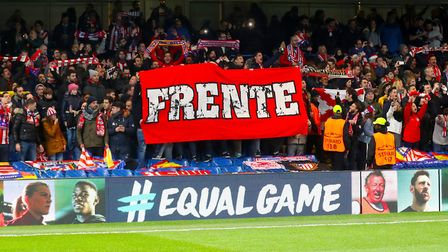 Atletico Madrid fans in the stands