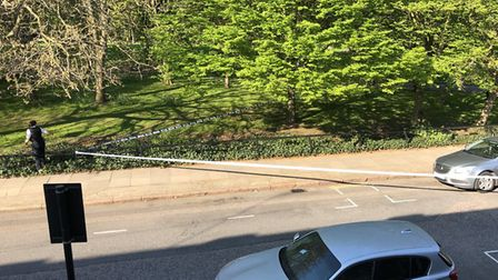 Rosemary Gardens and Shepperton Road was cordoned off last night. Picture: submitted to Islington Ga