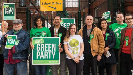 Members of Brent Green Party launch their local election manifesto earlier this month. Picture: Mart